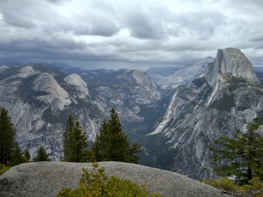 Half Dome from Glacier Point, Yosemite, CA