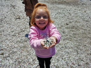"""""""Look what I found!"""", Glass Beach, Fort Bragg, CA"""