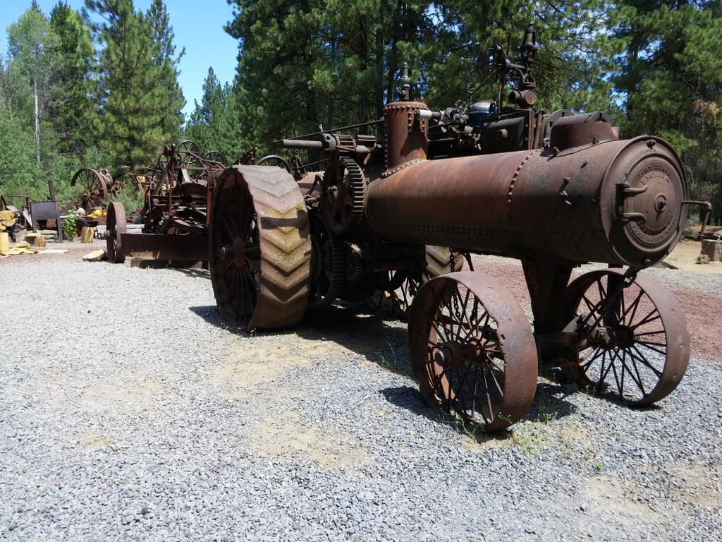 Old steam tractor at Collier Logging Museum