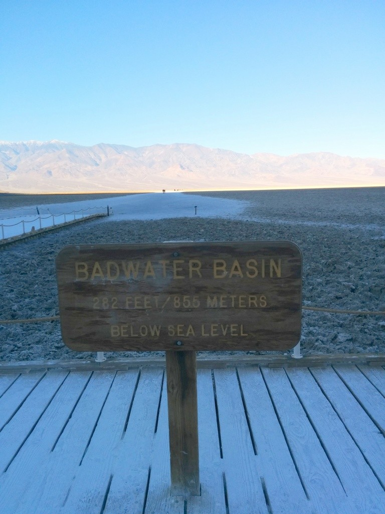 Badwater Basin, Death Valley. 282 feet below sea level