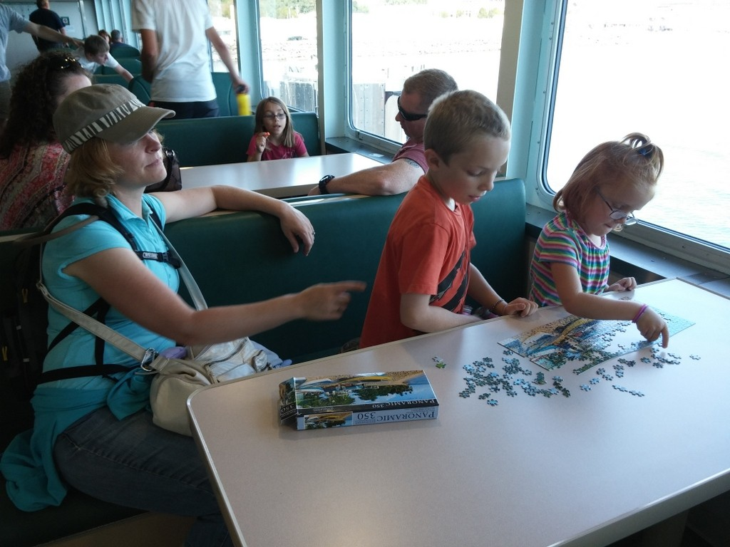 Puzzles on the ferry