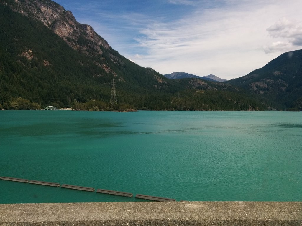 "Pretty green water. The color is caused by ""glacial rock flour"""