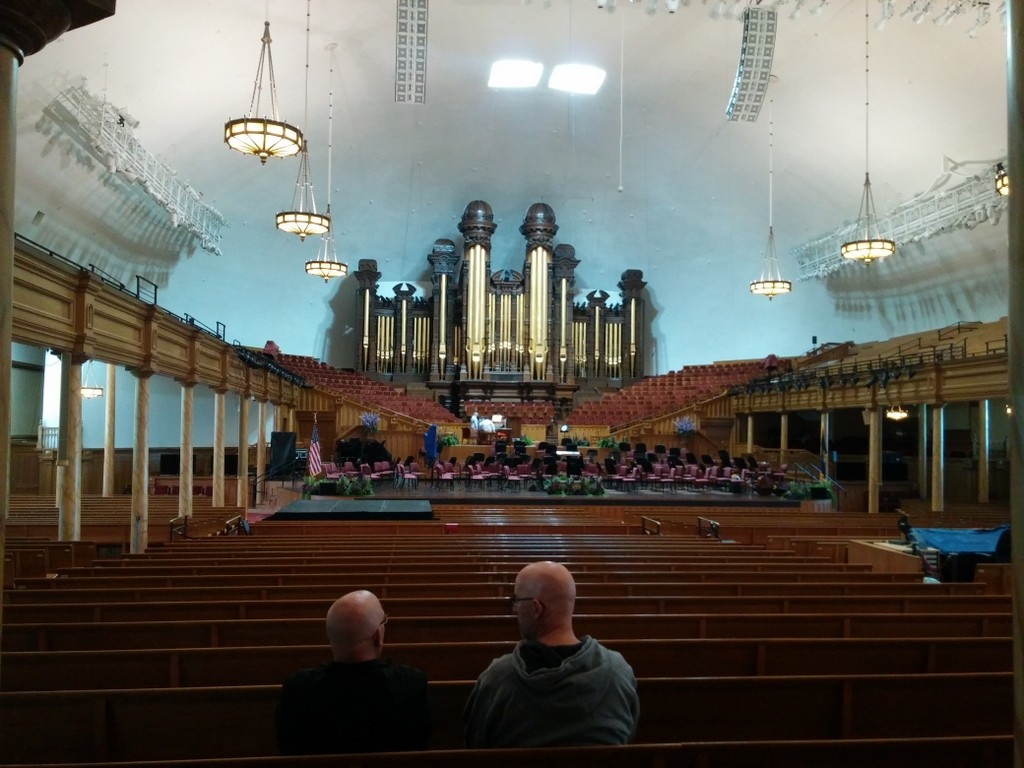 Inside the Tabernacle at Temple Square