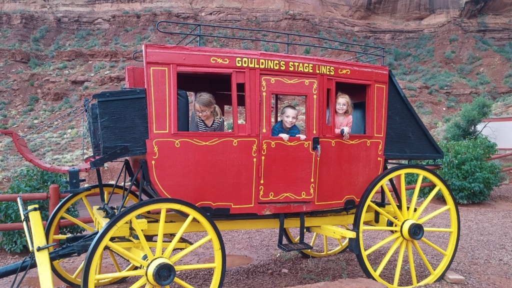 Stagecoach at Monument Valley