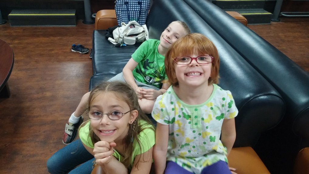 Hanging out at the bowling alley