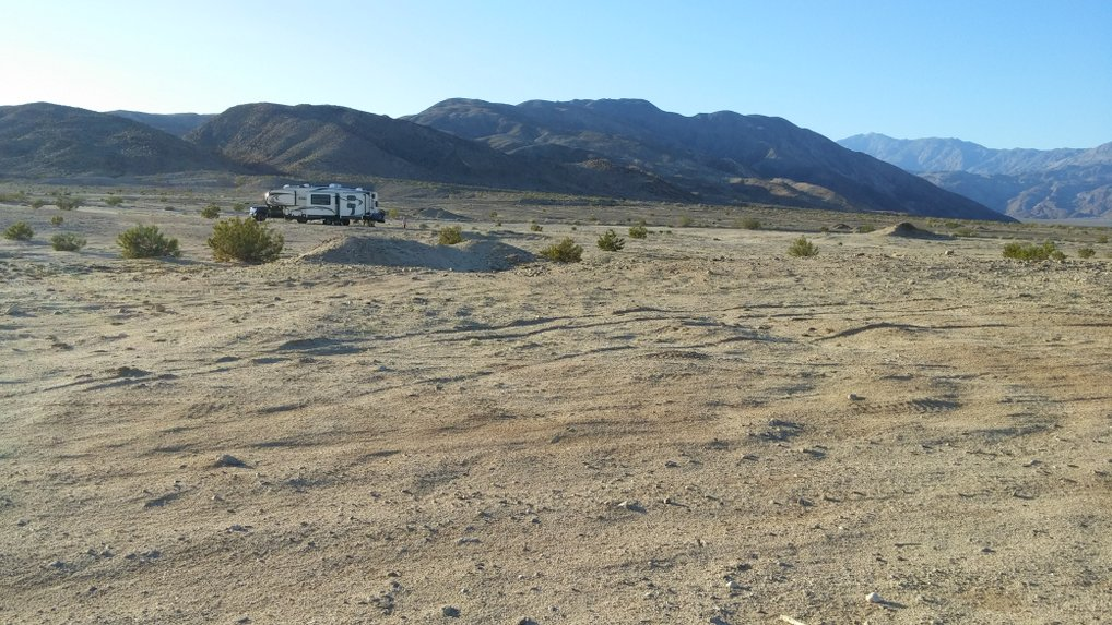 Anza Borrego boondocking site