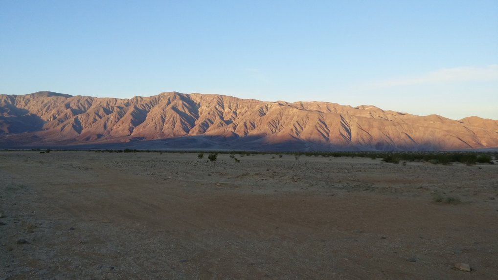 Anza Borrego at dusk