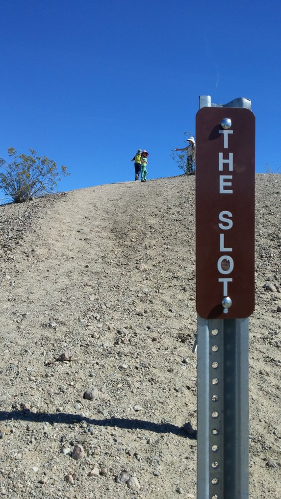"Start of ""The Slot"" hiking trail"