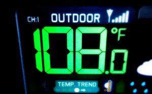hot outside rv
