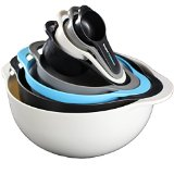 Mixing Bowls by Vesper's Kitchen Nesting Bowls Best Space Saving RV Camping Accessories and Supplies with Mixing Bowl, Measuring Bowl and Cups, Colander and Sifter Compact Stackable Storage Solution