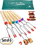 Set of 6 Marshmallow and Hot Dog Roasting Sticks 34 Inch Sturdy Extra Long Telescoping Smores Skewers by Carpathen