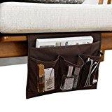 Bedside Storage Organizer/ Beside Caddy / Table cabinet Storage Organizer for tablet Magazine Phone Remotes - All Within Arms Reach (Coffee)