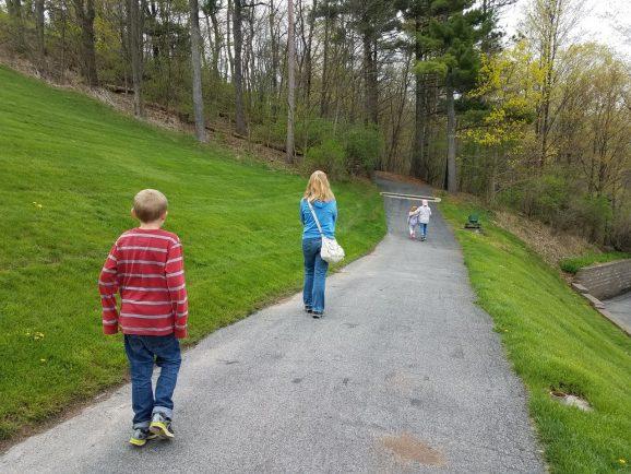 Walking up Hill Cumorah