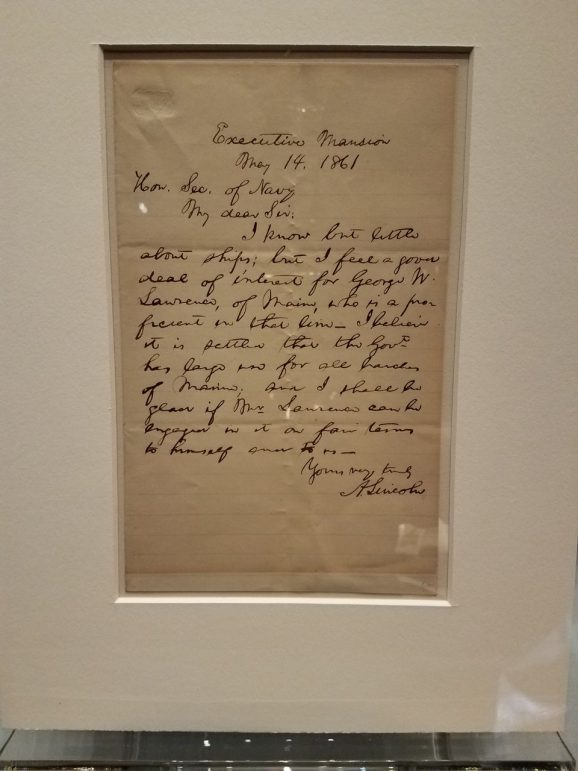 Lincoln's handwriting