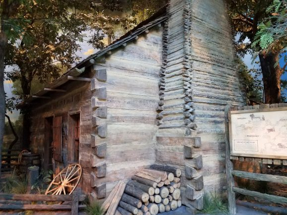 Replica of Lincoln's Log Cabin