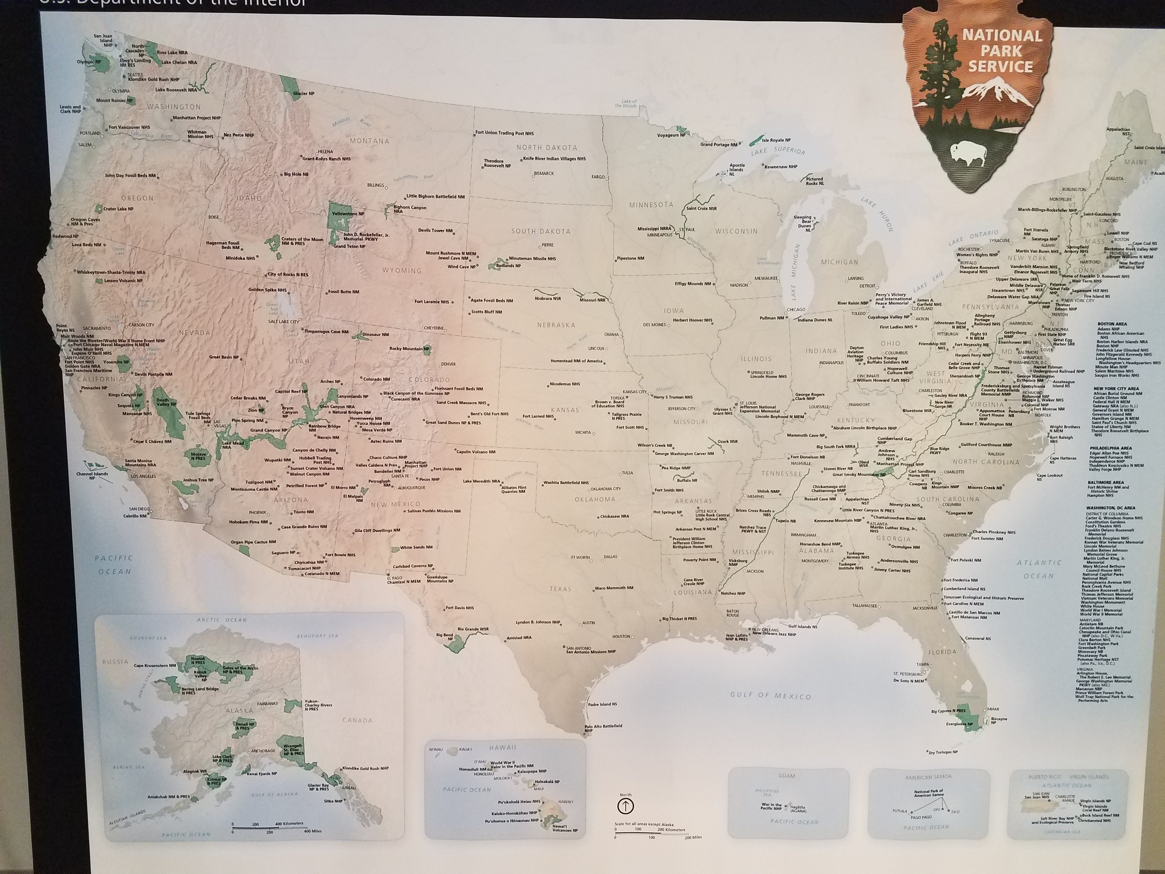 National Parks Map Five in a 5th