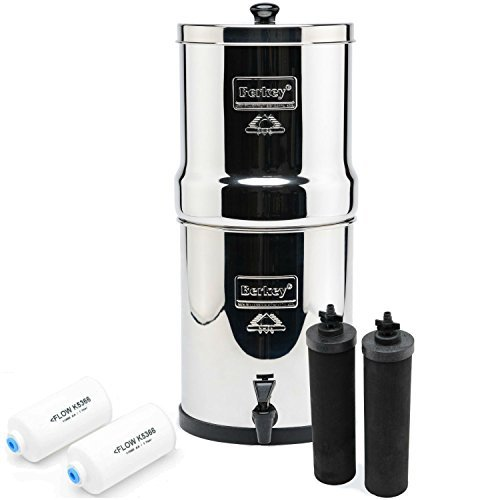 Big Berkey BK4X2 Countertop Water Filter System RV Kitchen Gadget